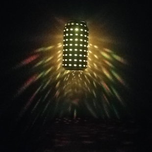 yellow disco light
